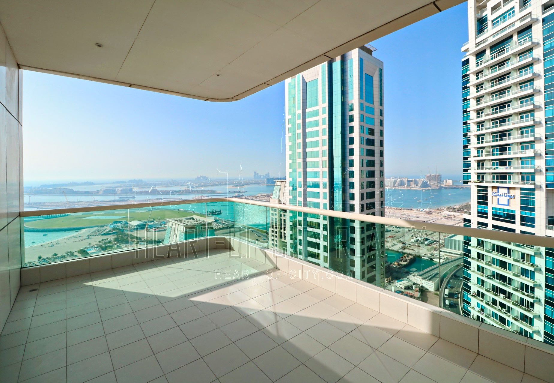 Balcony in apartment for sale in royal oceanic at dubai marina