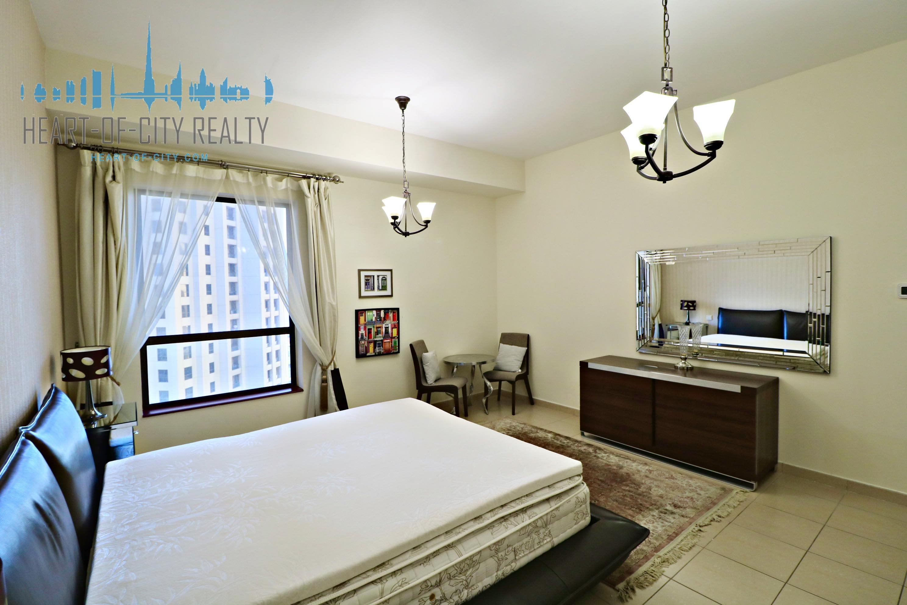 Bedroom in apartment for rent in Rimal JBR Dubai