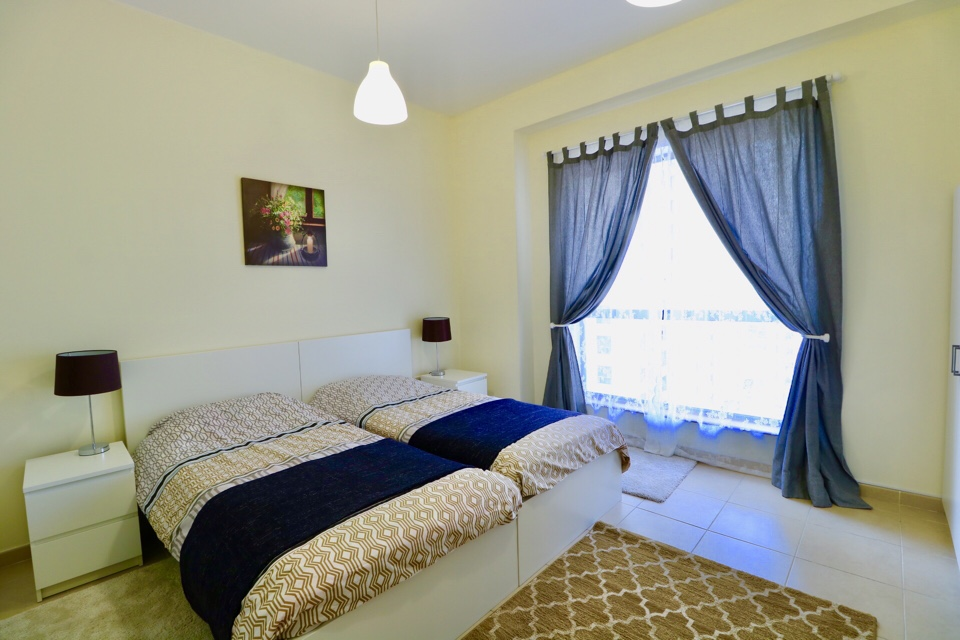 Bedroom at holiday apartment in Bahar JBR Dubai