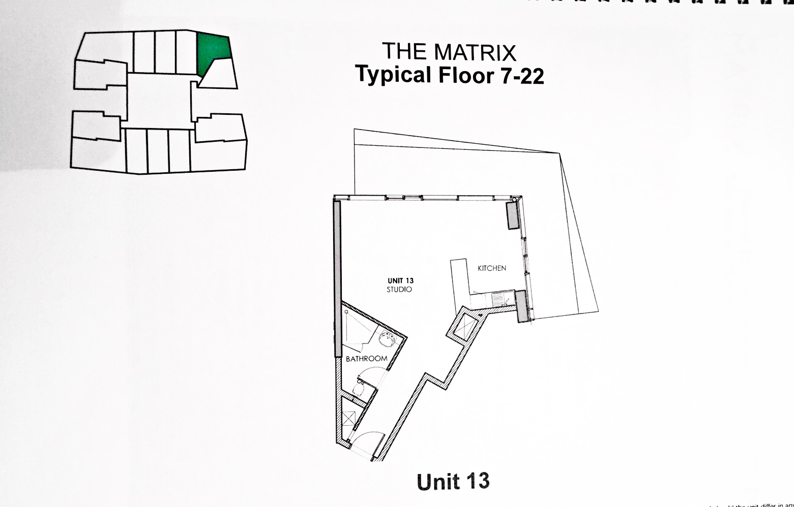 Floor Plan of Studio for sale and rent in Matrix at Dubai Sports City