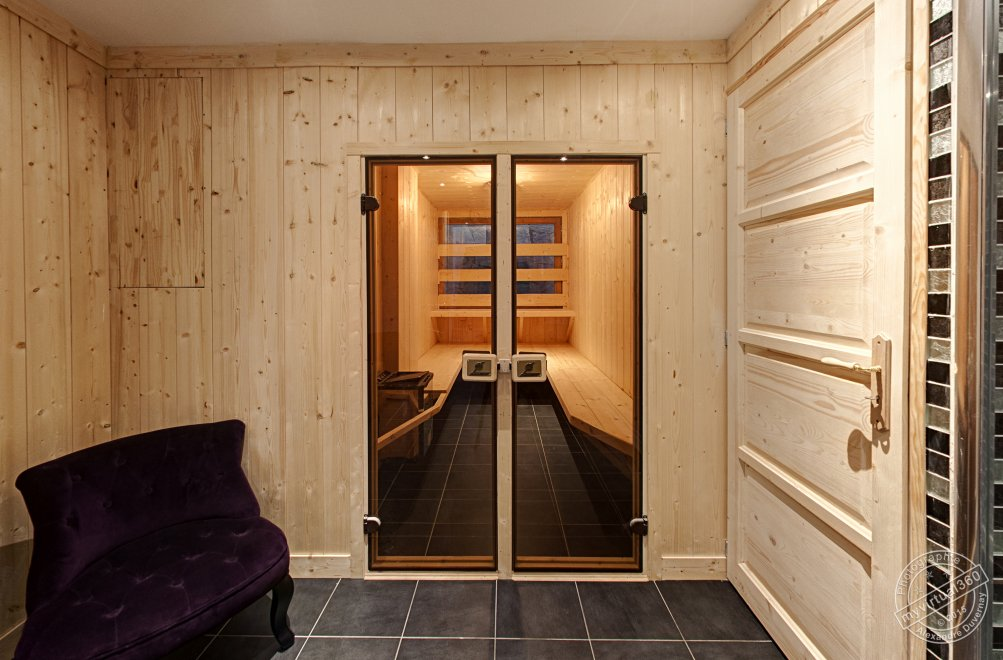 Sauna in Holiday Chalet for rent at Megeve in France