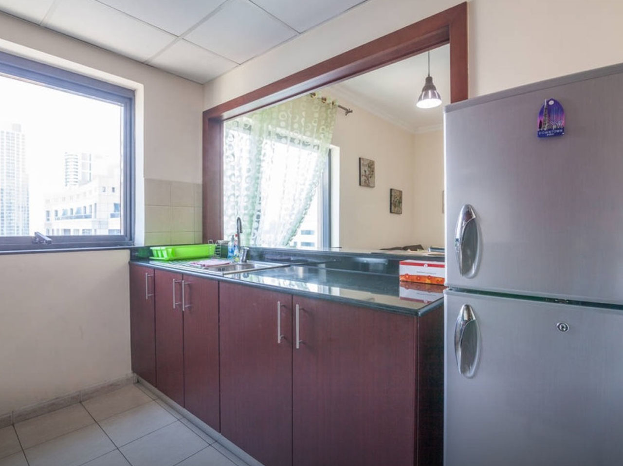Kitchen Holiday apartment in Time Place Tower at Dubai Marina