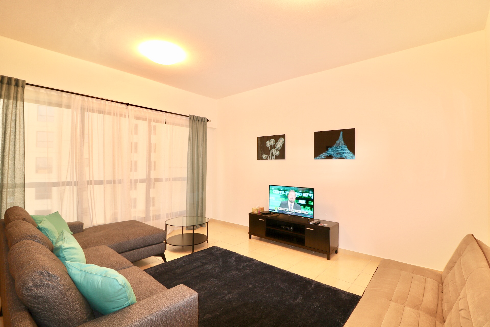 Living room at Apartment for short stay at Sadaf JBR Dubai