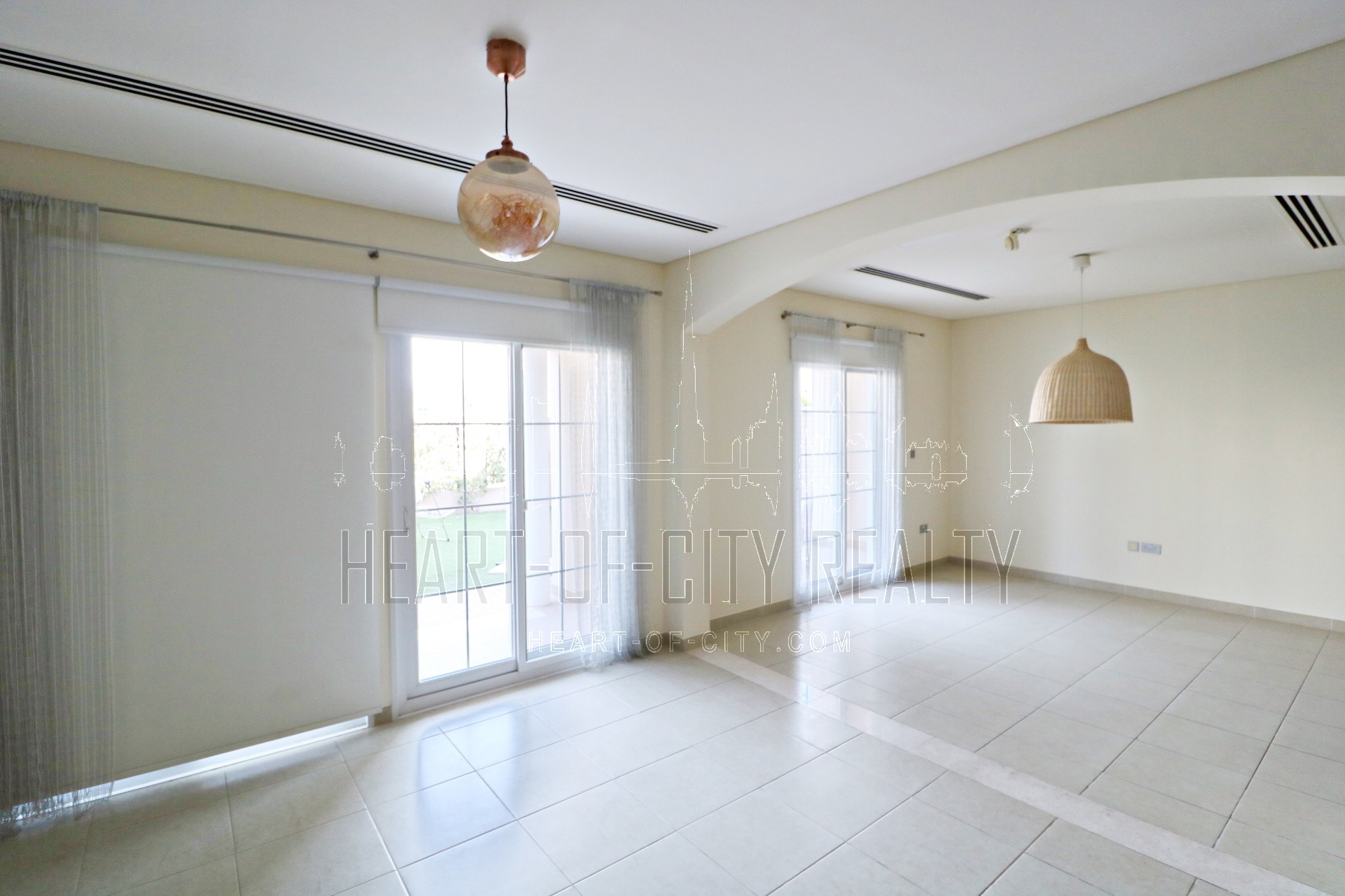 Living room in Townhouse for rent/sale at JVC Dubai