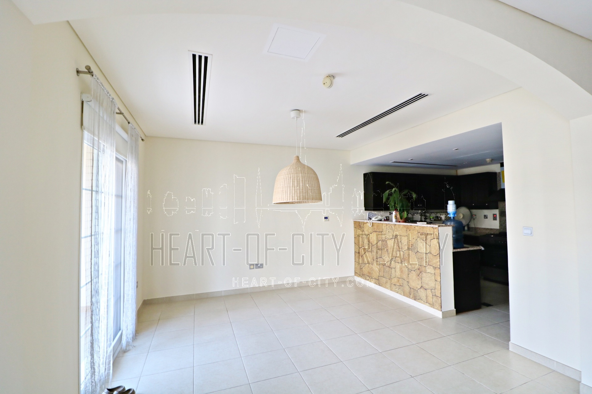 Living room in Townhouse for rent and sale at JVC Dubai