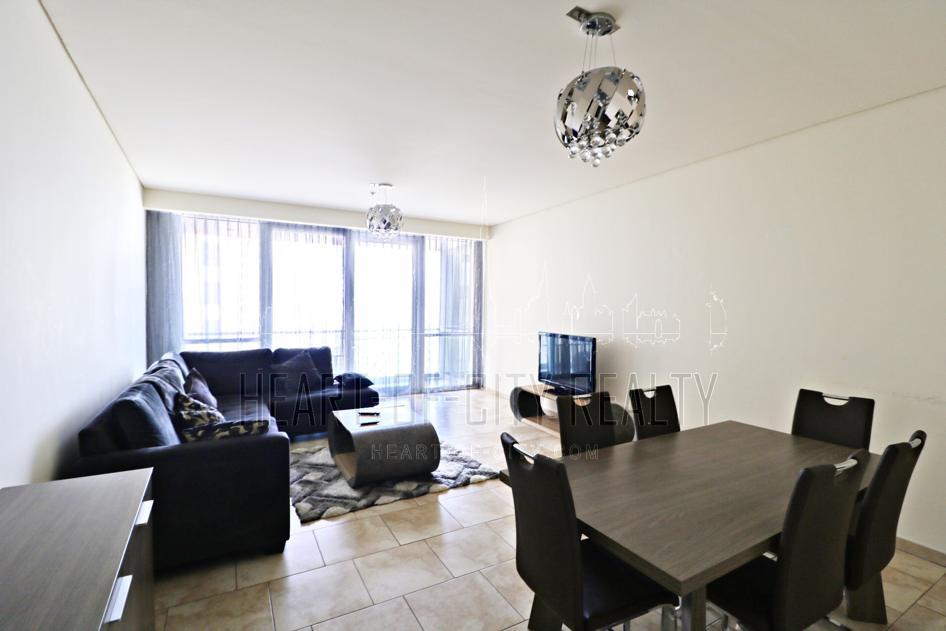Living room in apartment for rent in Al Fattan JBR Dubai