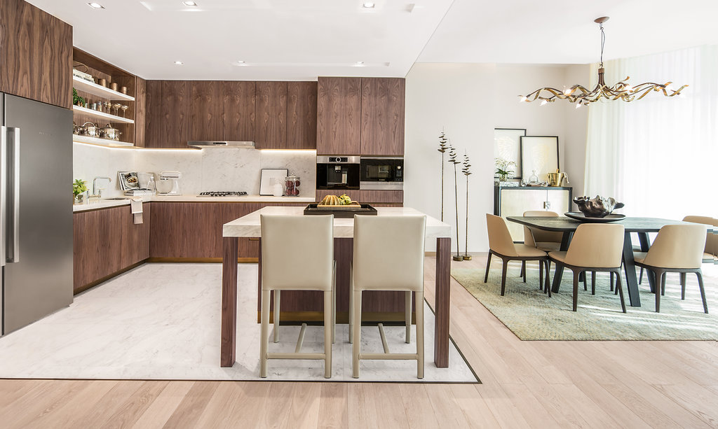 Kitchen and Dining room in RP Heights at Dubai Downtown