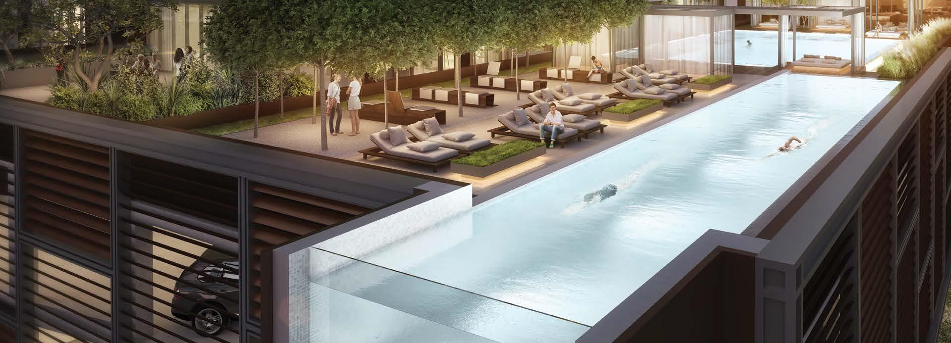 Swimming pool in DT1 Downtown Dubai