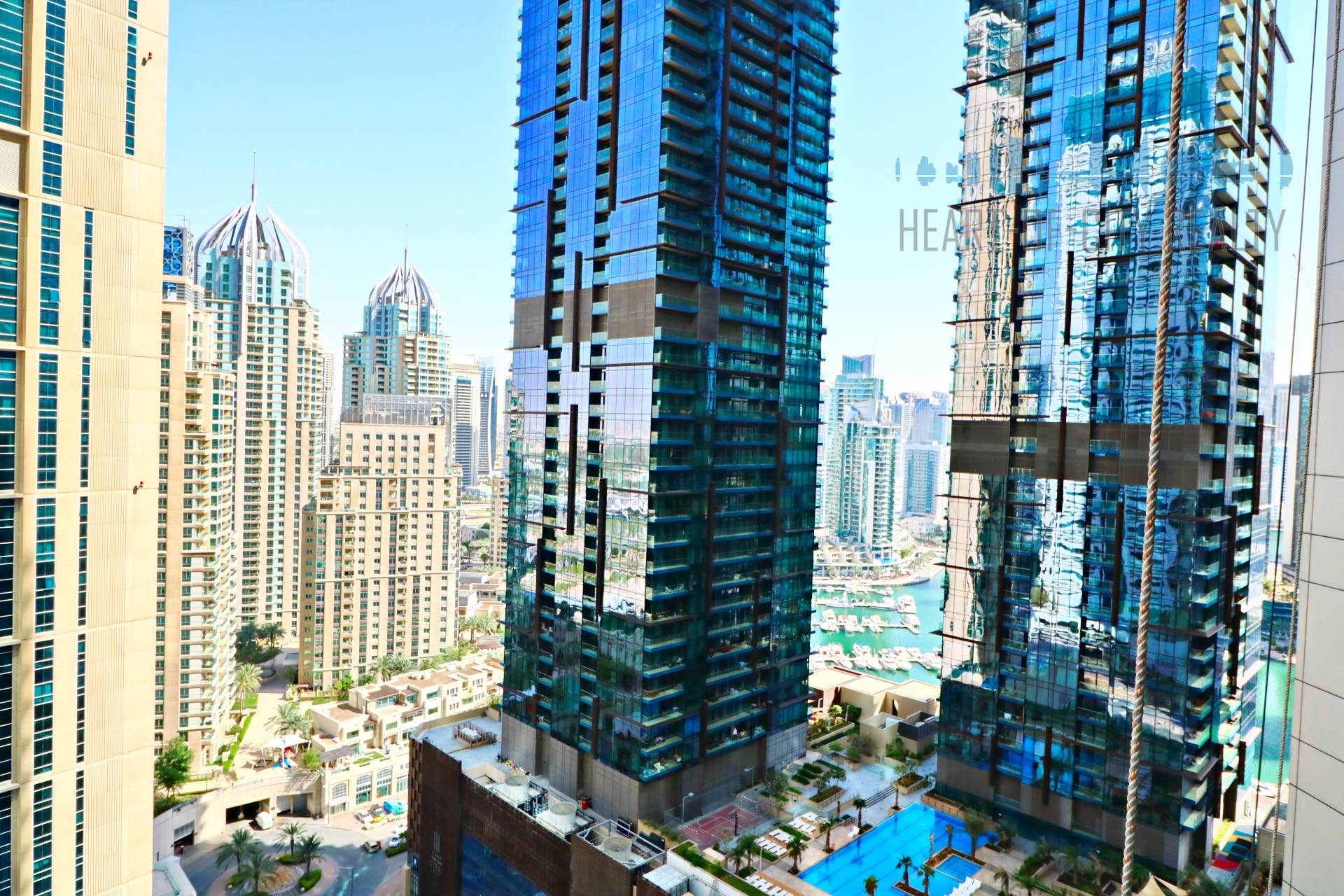 View from Apartment rent Torch Dubai Marina