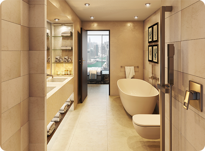 apartment for sale Marina Gate Dubai bathroom