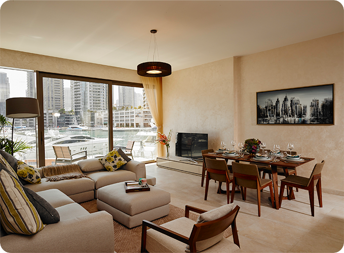 apartment for sale Marina Gate Dubai dining room