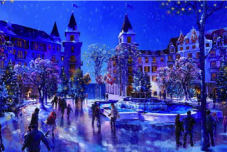 snowing street The heart of europe