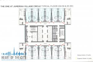 Floor plan at The One at Jumeriah Village Circle