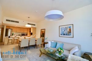 Living room in Apartment for sale in Belgravia at JVC in Dubai