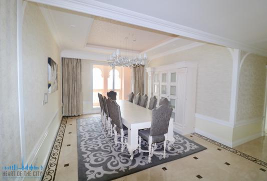 Dining room in Apartment for sale at Taj Grandeur Residences at Palm Jumeirah in Dubai