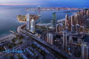 Apartments for sale in 52|42 Towers at Dubai Marina at night