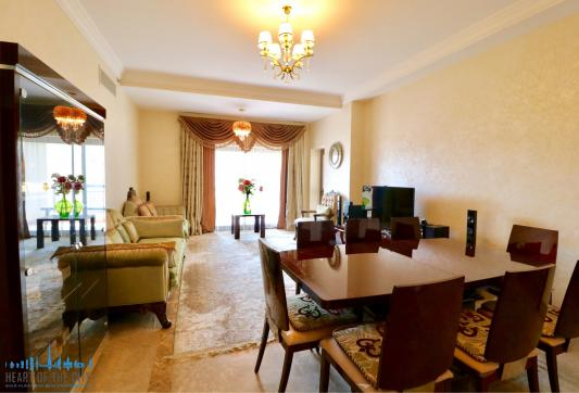Apartment for rent Fairmont North at Palm Jumeirah in Dubai-Living room