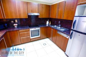 Kitchen in Apartment in Fairmont Residences South at Palm Jumeirah in Dubai