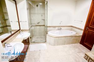 Bathroom in Apartment in Fairmont Residences South at Palm Jumeirah in Dubai