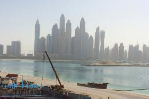 Dubai Marina view from Apartment in Fairmont Residences South at Palm Jumeirah in Dubai