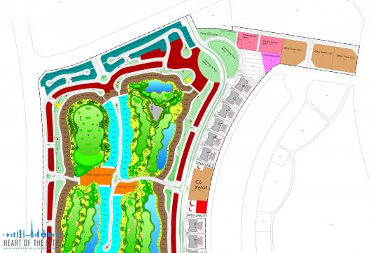 Master-plan of Living Legends at Dubai Land