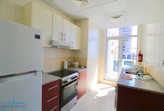 Kitchen in Apartment for sale in Champion-1 at Dubai sports city
