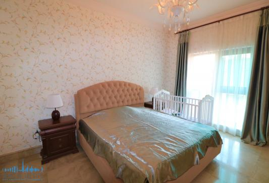 Bedroom in holiday apartment in Fairmont Residence at Palm Jumeirah