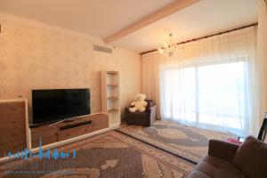 Living room in holiday apartment in Fairmont Residence at Palm Jumeirah Dubai