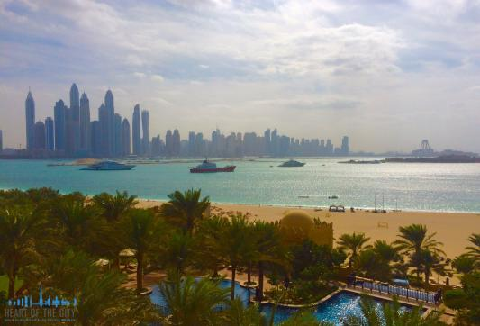 Full sea view from Fairmont Residence North at Palm Jumeirah in Dubai