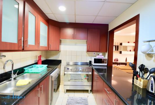 Kitchen in Holiday Apartment in Sadaf JBR in Dubai
