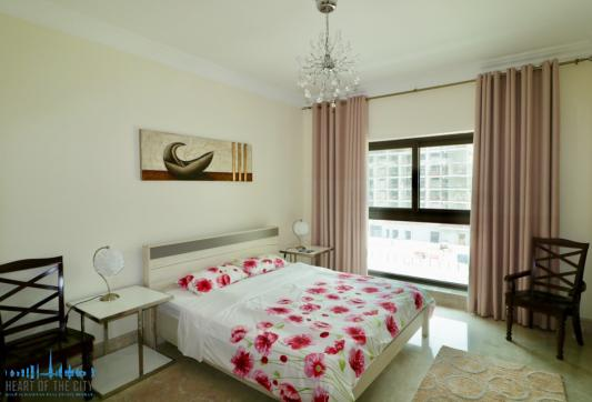 bedroom in apartment in Fairmont at Palm Jumeirah in Dubai
