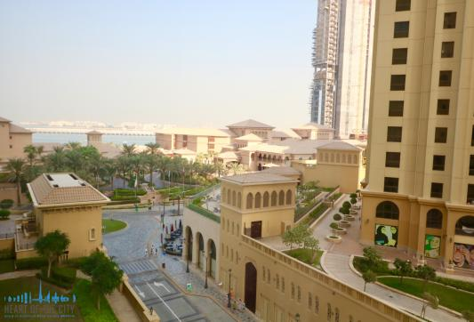 Sea and Community views from apartment for vacation rental at Sadaf JBR Dubai
