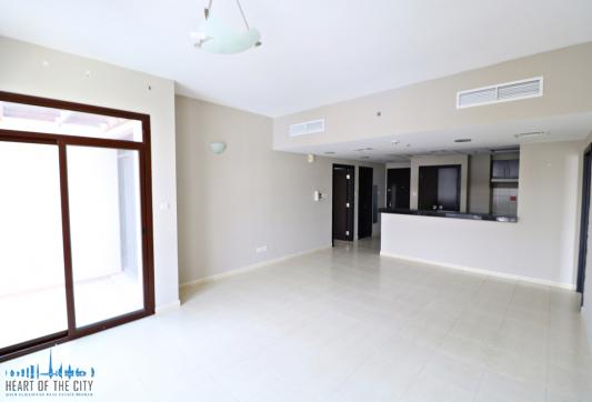 Living room in apartment for rent in Fortunato 1 at JVC in Dubai