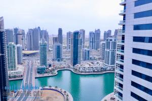 Marina view from apartment-duplex for rent in Sky View Tower in Dubai Marina