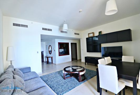 Living Room in Holiday Apartment for vacation rental in Bahar JBR Dubai