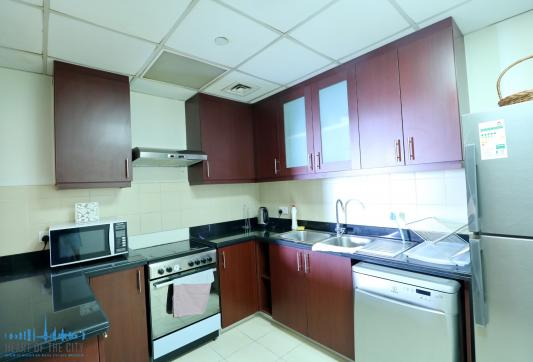Kitchen in Holiday Apartment for vacation rental in Bahar JBR Dubai
