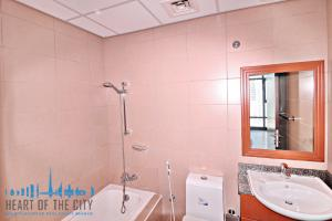 Bathroom in apartment for rent in Lakeside Residence at JLT in Dubai