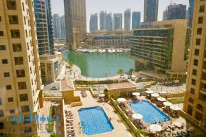 View to Dubai Marina from Apartment for rent in Bahar at JBR Dubai
