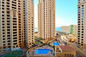 View from apartment for rent in Rimal-1 at JBR Dubai