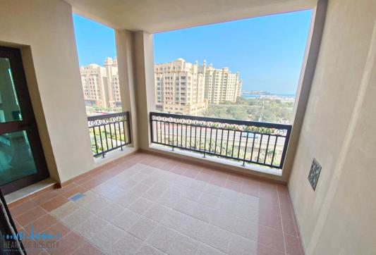 Balcony in Apartment for rent in Fairmont South Residence in Palm Jumeirah Dubai