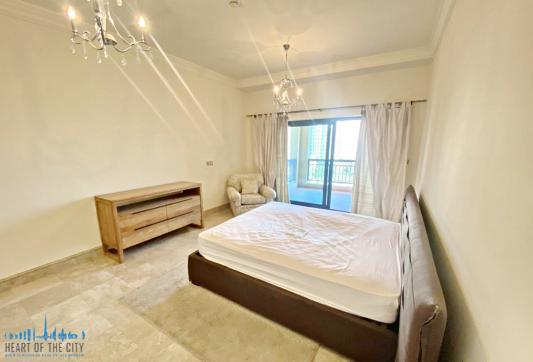 Bedroom (view 2) in Apartment for rent in Fairmont South Residence in Palm Jumeirah Dubai