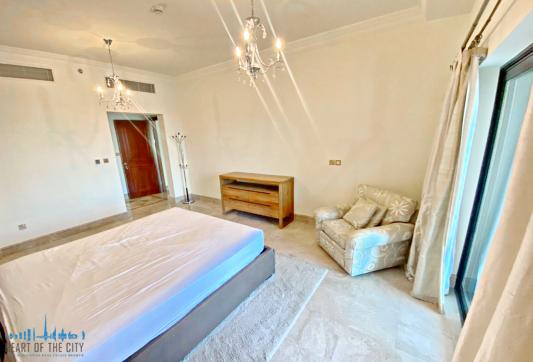 Bedroom in Apartment for rent in Fairmont South Residence in Palm Jumeirah Dubai