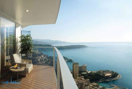 Seaview from Apartments at Tour Odeon in Monaco