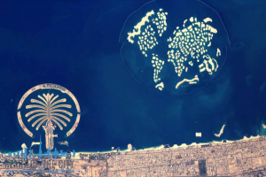 World Islands near Dubai coast