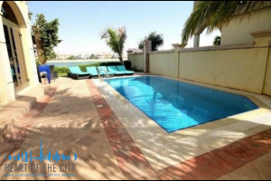 Swimming Pool in Villa at Frond D of Palm Jumeirah