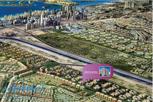 Map and location of AZIZI Liatris Residence in development Al Furjan at Dubai