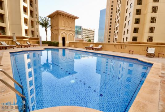 Swimming pool at Rimal JBR Dubai
